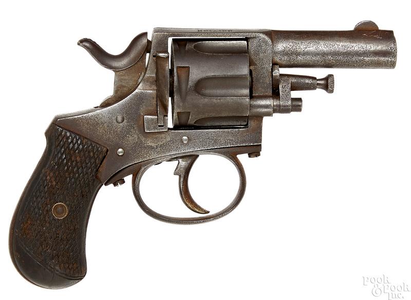 Belgian six shot double action revolver