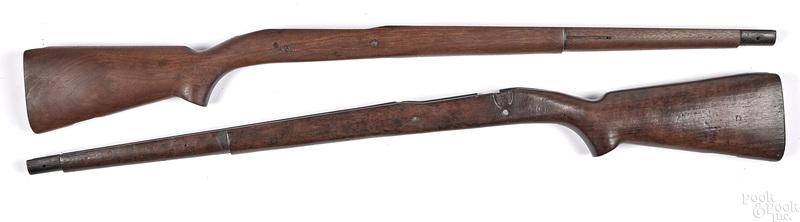 Two model 1903 C stocks