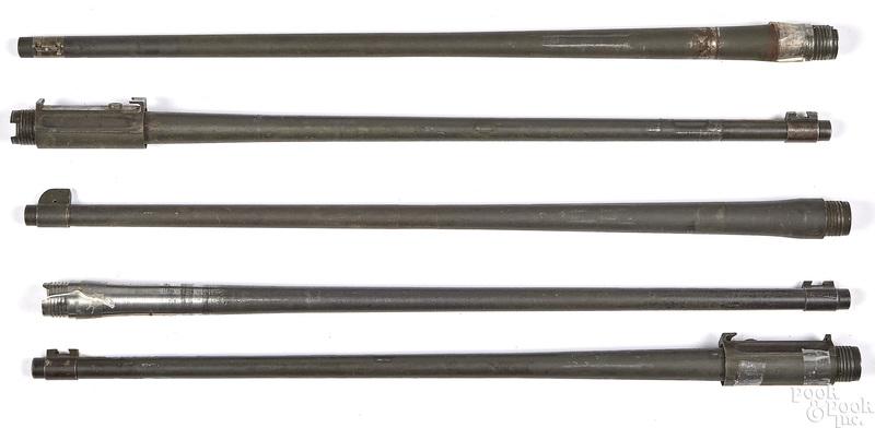 Five 1903 rifle barrels