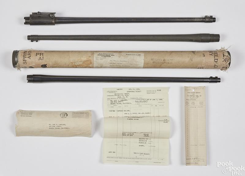 Three 1903 Springfield rifle barrels