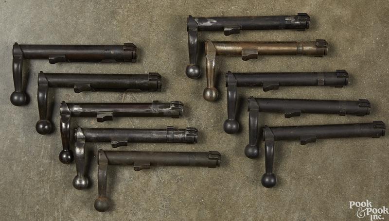 Ten 1903 straight bolt bodies