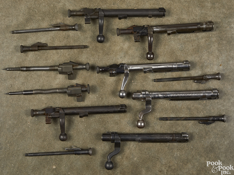 Three model 1903 straight bolts, etc.