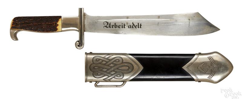 German WWII Eickhorn Nazi hewer and scabbard