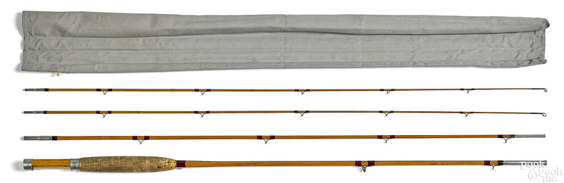 H. L. Leonard three-piece split bamboo fly rod