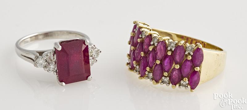 Two ruby rings