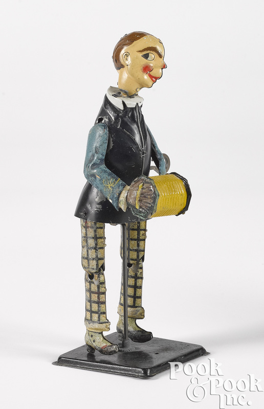 German tin lithograph wind-up dancer