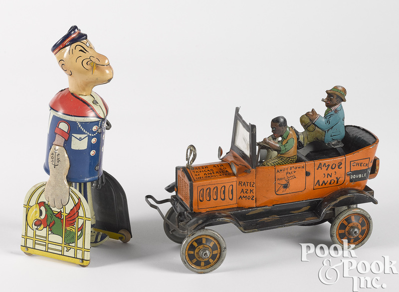 Two Marx tin lithograph wind-up toys