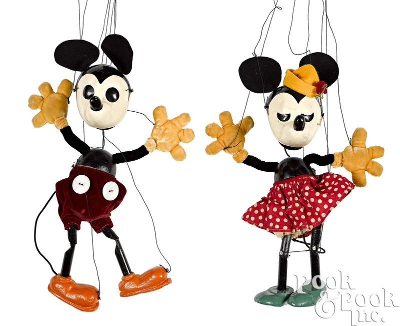 Bullock's Wilshire Mickey Minnie Mouse marionettes
