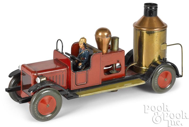 Bing painted tin fire pumper