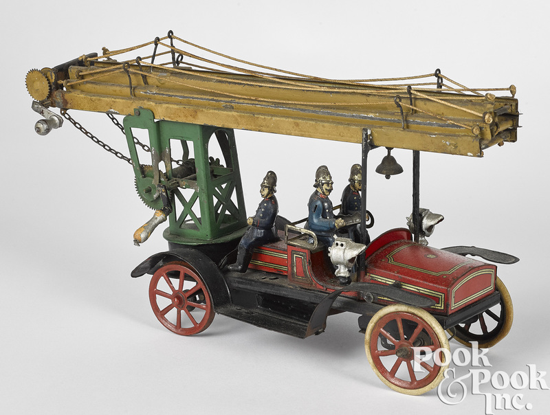Gunthermann clockwork fire ladder truck
