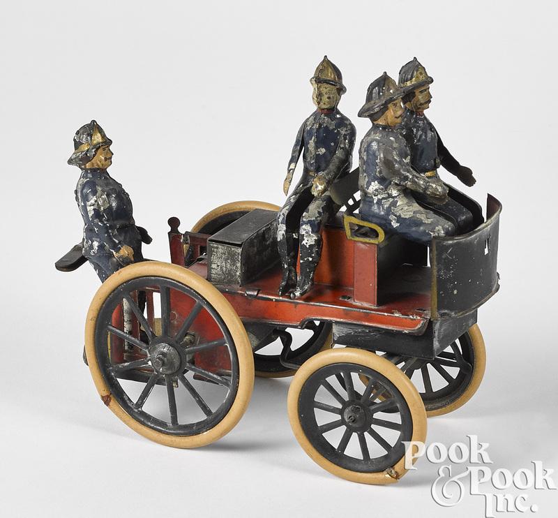 Gunthermann tin clockwork fire pumper