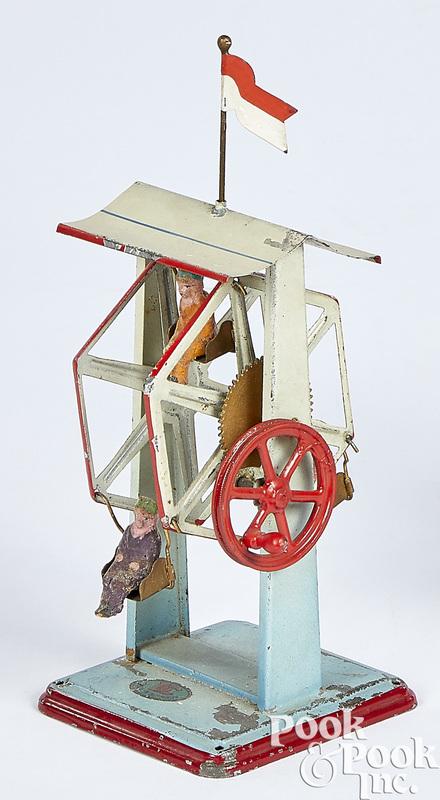 Doll & Cie tin Ferris wheel steam toy accessory