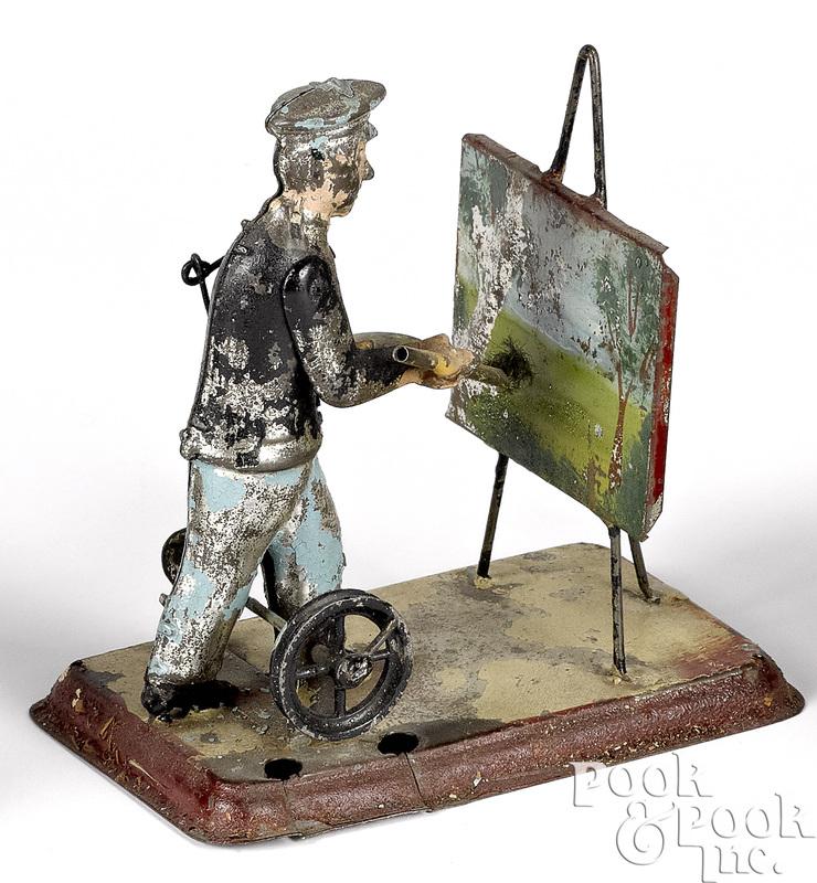 Wunderlich painted tin artist steam toy accessory