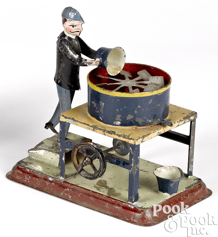 Painted tin mixer steam toy accessory