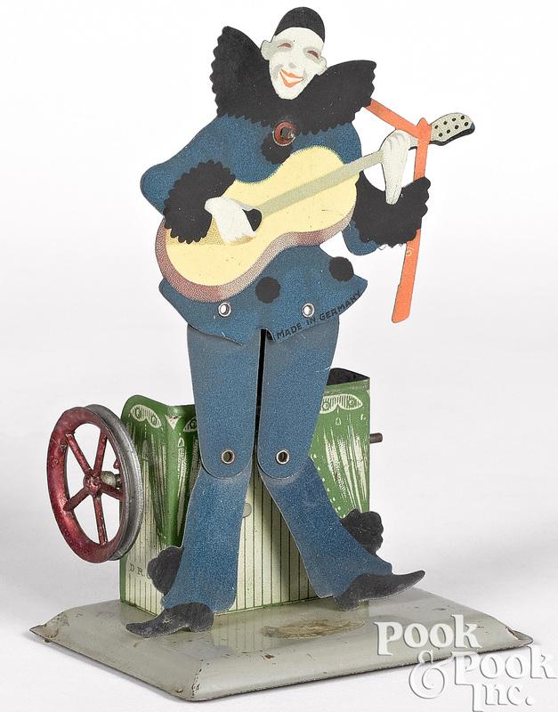 Wilhelm Krauss harlequin slate dancer steam toy