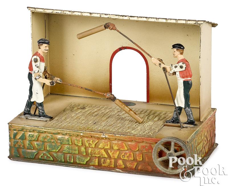 Doll & Cie men thrashing wheat steam toy accessory
