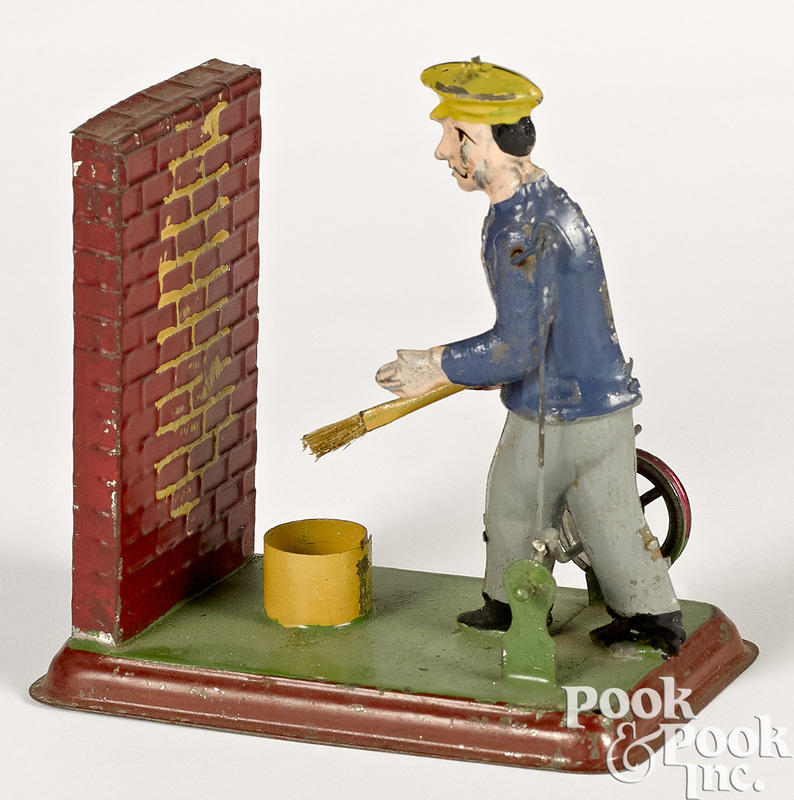Wunderlich man painting a wall steam toy accessory