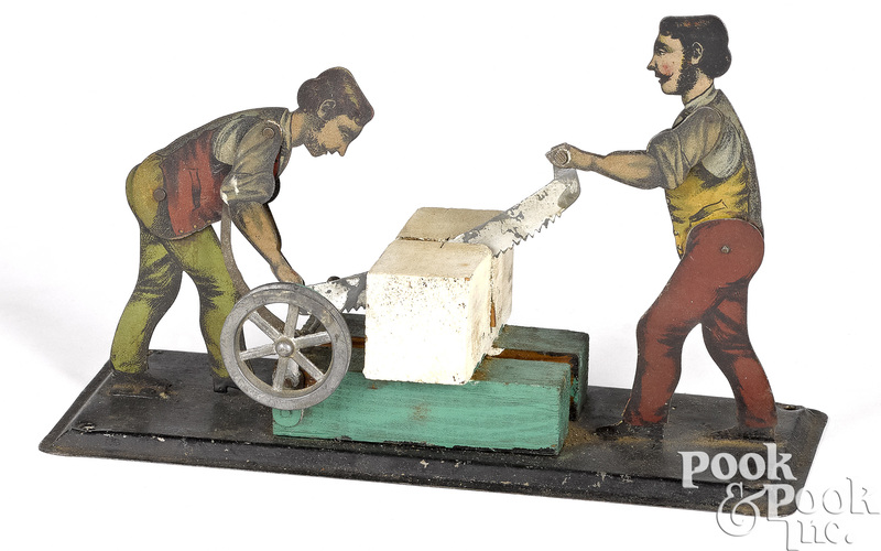 Bing lithograph tin sawyers steam toy accessory