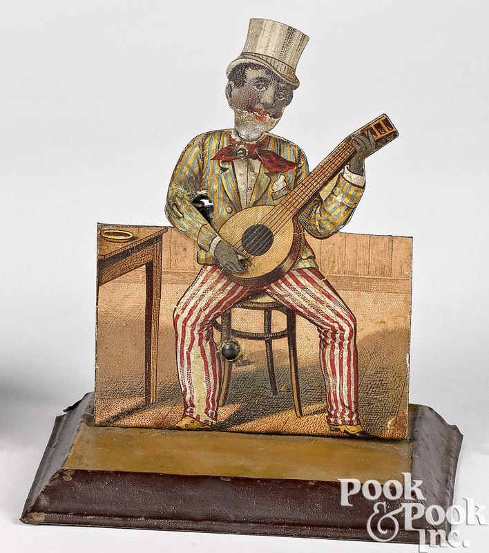Schoenner tin banjo player steam toy accessory