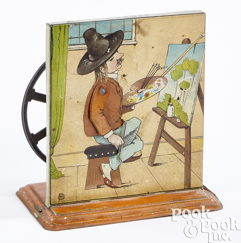 Bing tin lithograph artist steam toy accessory