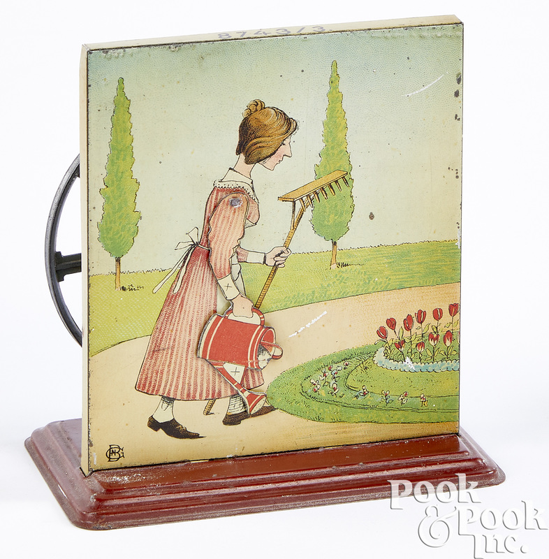 Bing woman watering flowers steam toy accessory