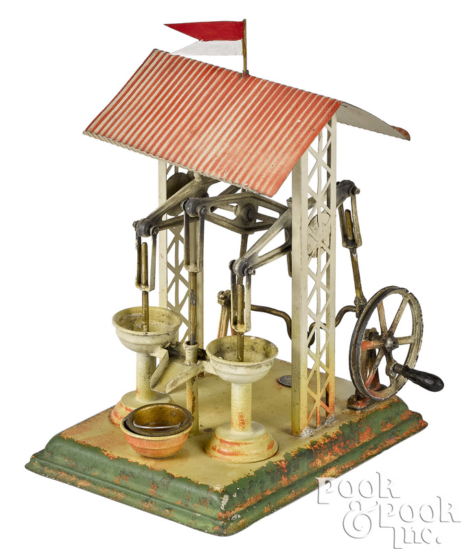 Plank pump station steam toy accessory