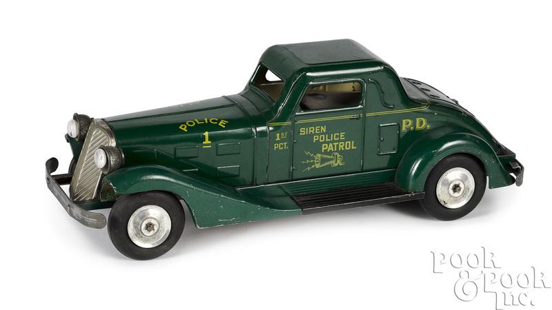 Marx tin clockwork Siren Police Patrol car
