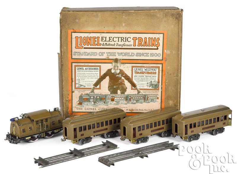 Lionel no. 342 four-piece train set