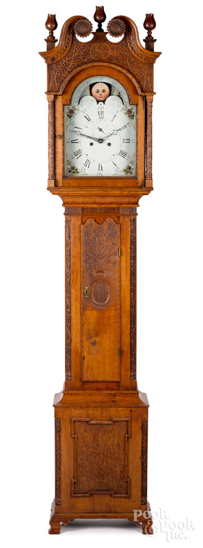 Reading, Pennsylvania Chippendale tall case clock