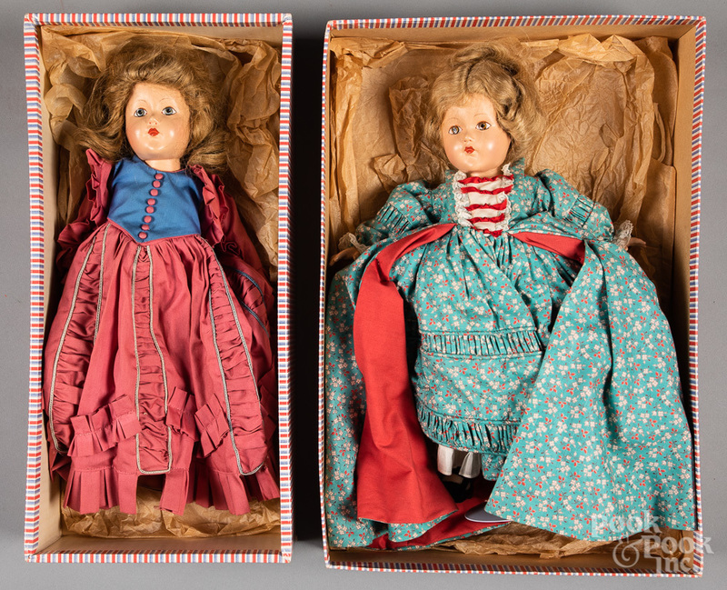 Two composition Effanbee Anne Shirley dolls, etc.