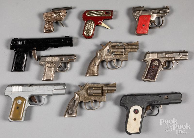 Collection of ten cap guns