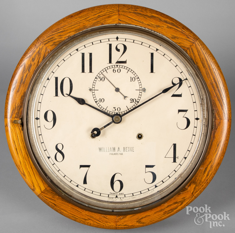 William Heine, Philadelphia oak wall clock