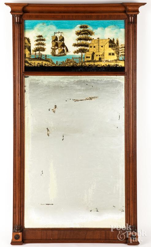Large Federal mahogany mirror