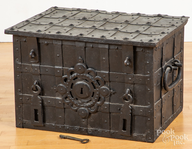 German iron lock box