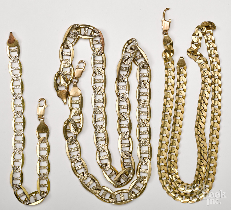 Group of 10K yellow gold jewelry