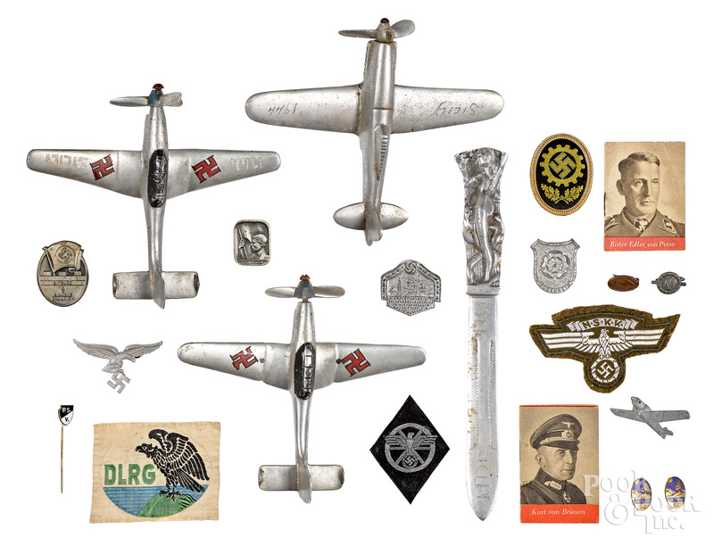 Group of German Nazi pins and patches