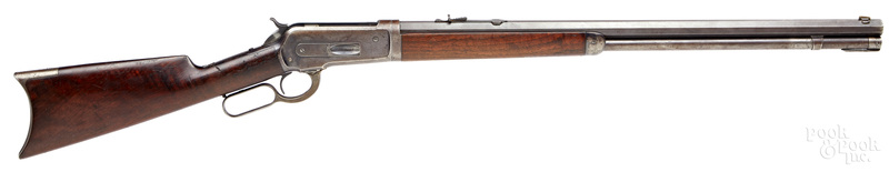 Winchester model 1886 lever action takedown rifle