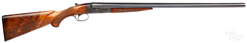 H. V. Grant engraved Winchester model 21 shotgun