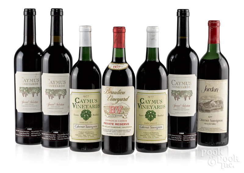 Fifteen bottles of California red wine