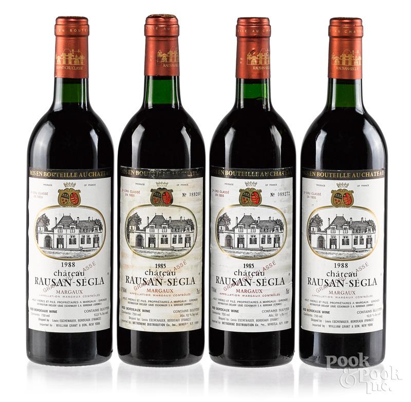 Four bottles of Chateau Rausan Segla
