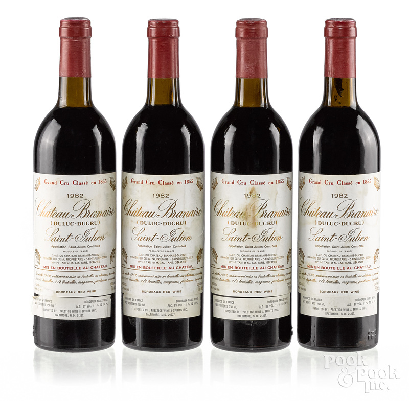 Four bottles of 1982 Chateau Branaire Ducru