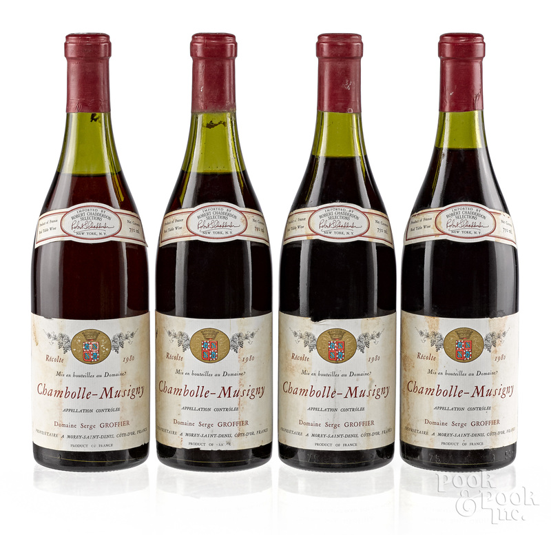 Four bottles of 1980 Chambolle Musigny