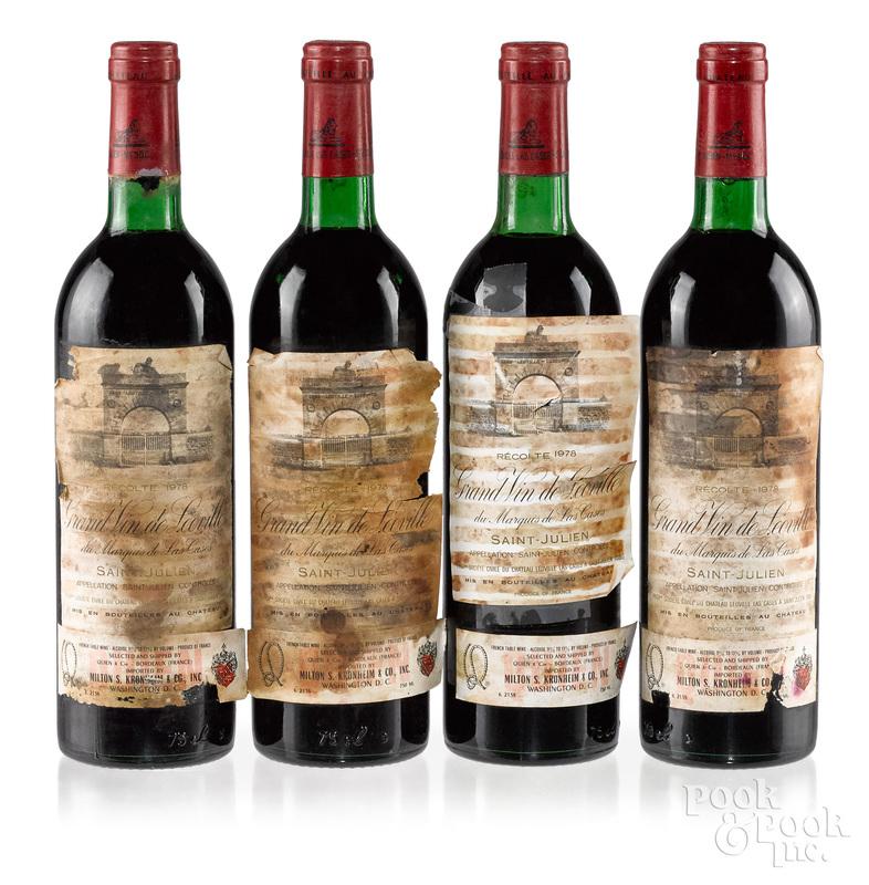 Four bottles of Chateau Leoville Las Cases 1978