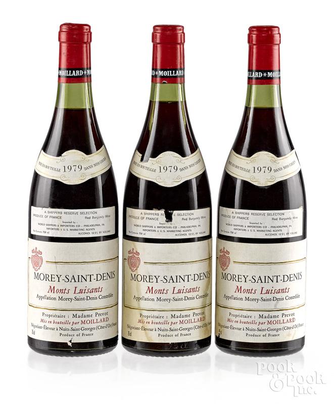 Three bottles of 1979 Morey Saint Denis