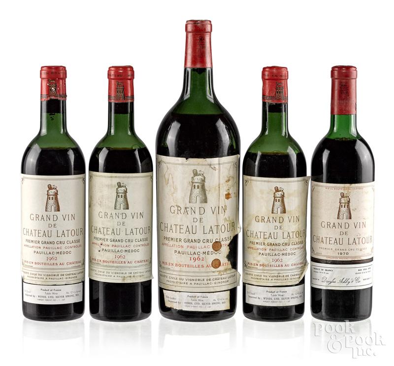 Five bottles of Chateau Latour