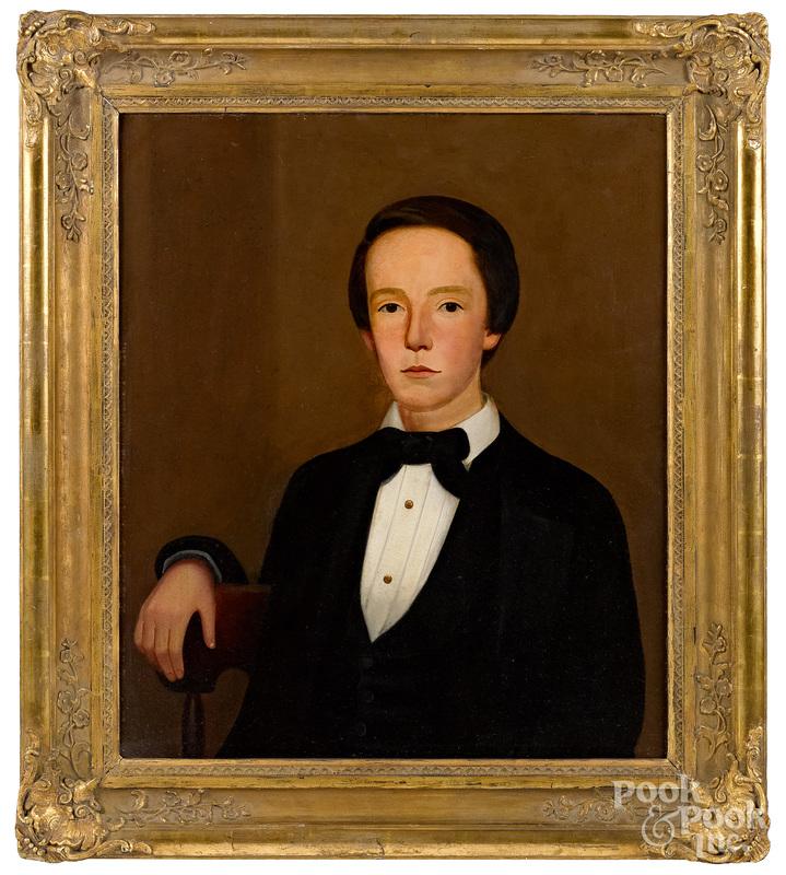 Attr. William Kennedy (American 1817-1871) portrait