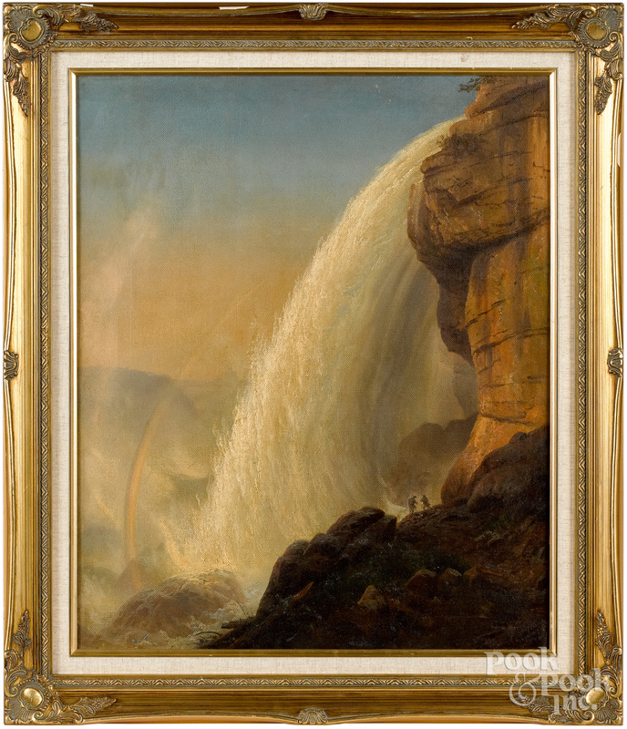 Oil on canvas view of Niagara Falls