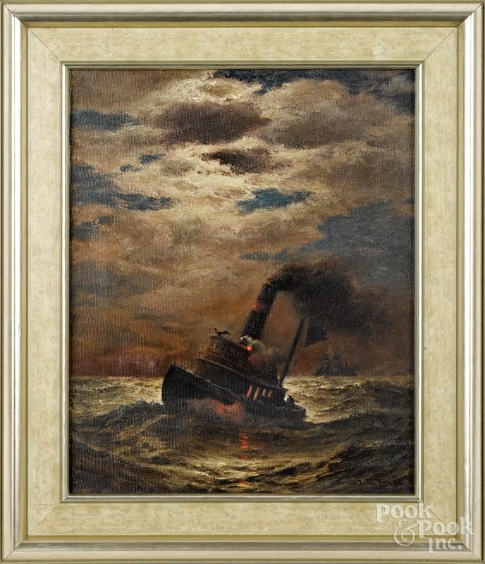 James Gale Tyler (American 1855-1931) seascape