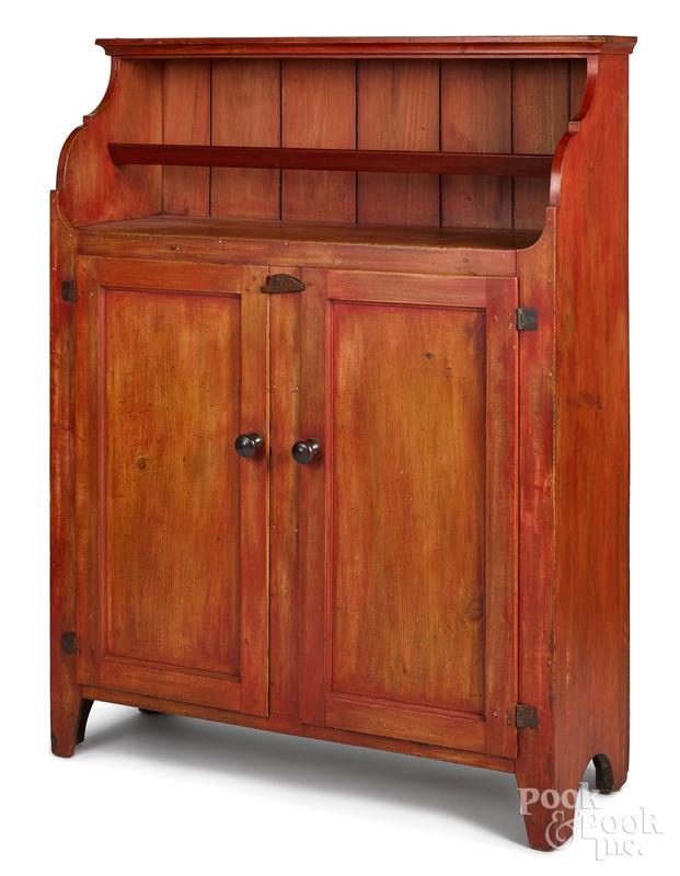 Pennsylvania painted poplar wall cupboard