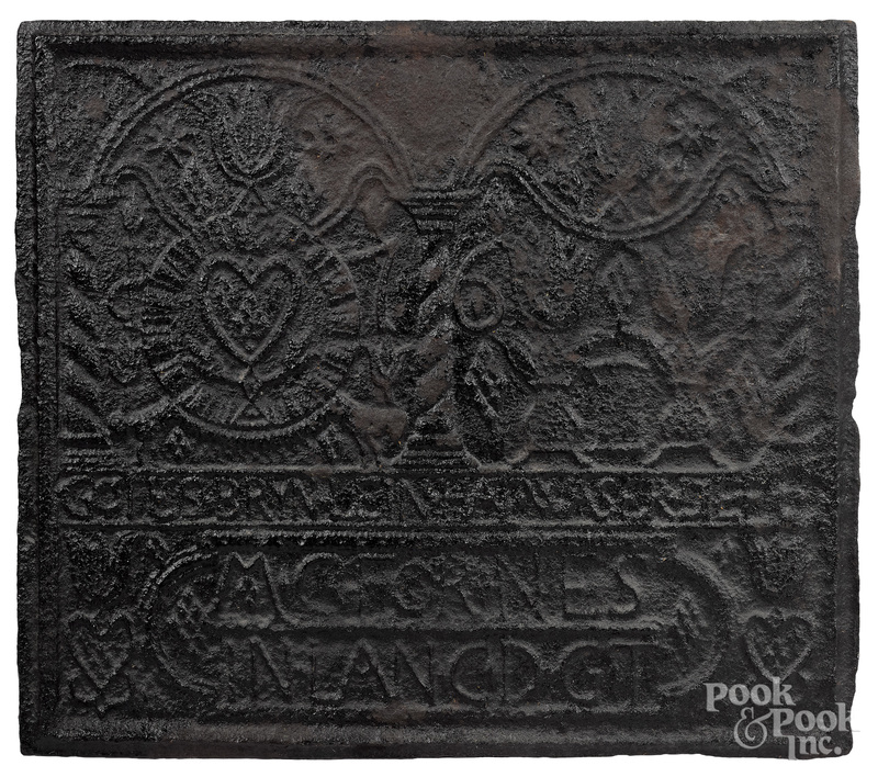 Martic Furnace, Lancaster, Pennsylvania cast iron God's Well stove plate